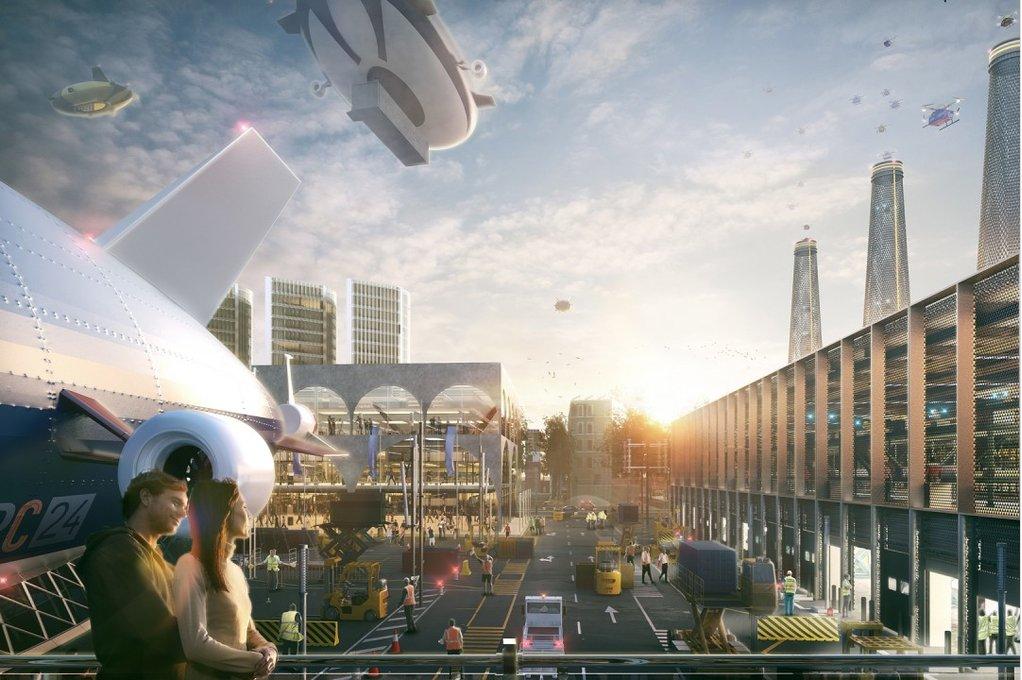 London's Heathrow imagined as a city
